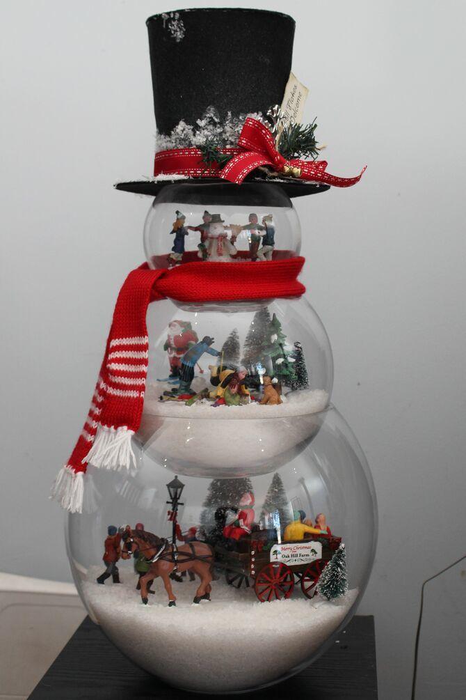 Новогоднее волшебство своими руками: 50 идей снеговика 34
