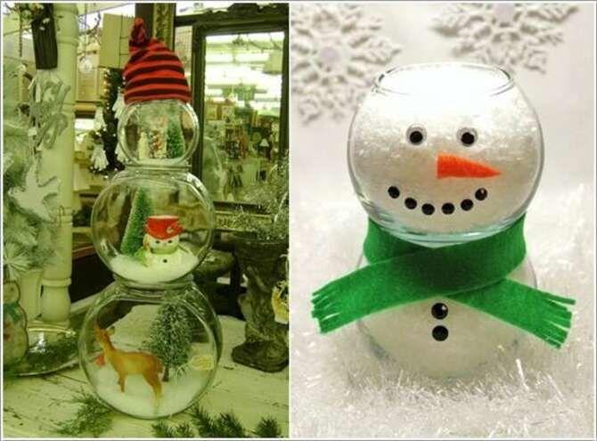 Новогоднее волшебство своими руками: 50 идей снеговика 35