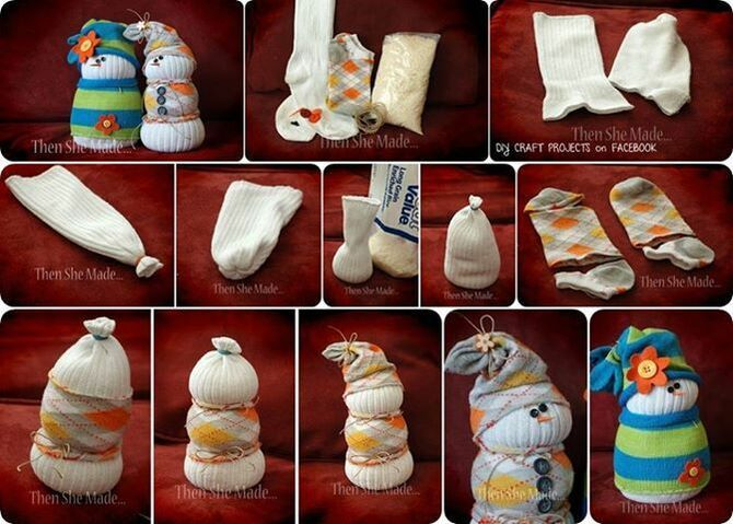 Новогоднее волшебство своими руками: 50 идей снеговика 3