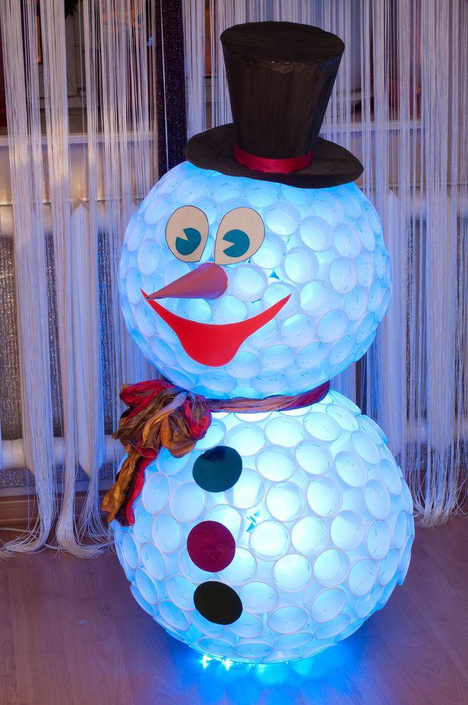 Новогоднее волшебство своими руками: 50 идей снеговика 36