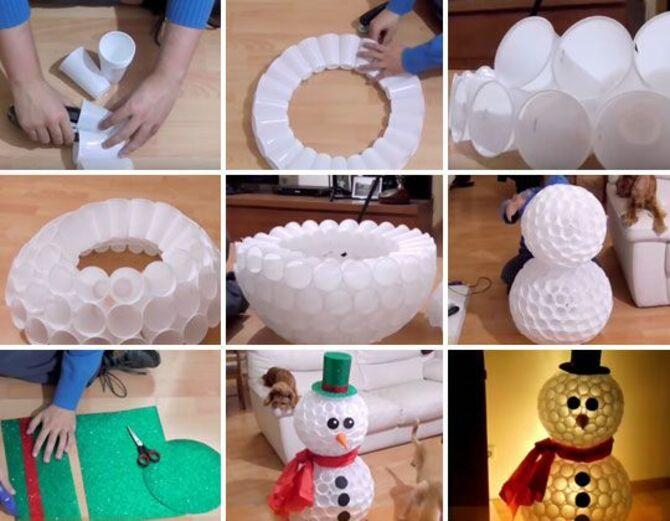 Новогоднее волшебство своими руками: 50 идей снеговика 37