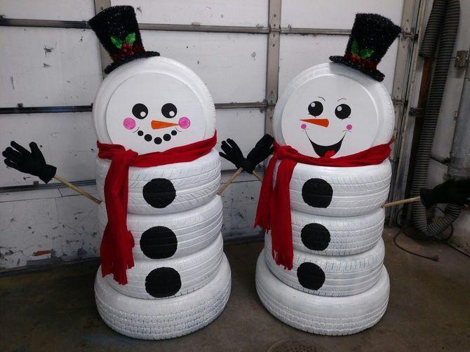 Новогоднее волшебство своими руками: 50 идей снеговика 40