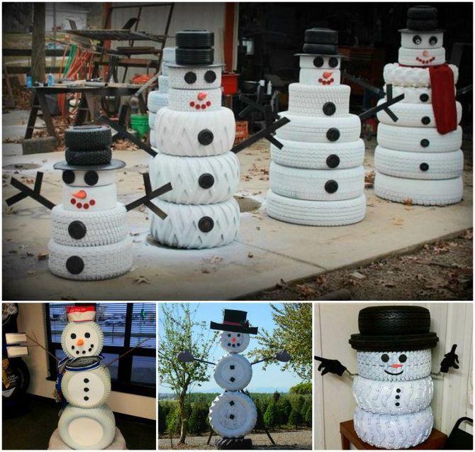 Новогоднее волшебство своими руками: 50 идей снеговика 41