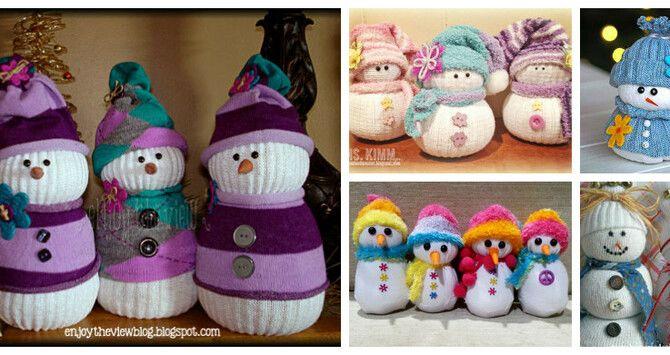 Новогоднее волшебство своими руками: 50 идей снеговика 4