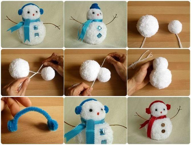 Новогоднее волшебство своими руками: 50 идей снеговика 7