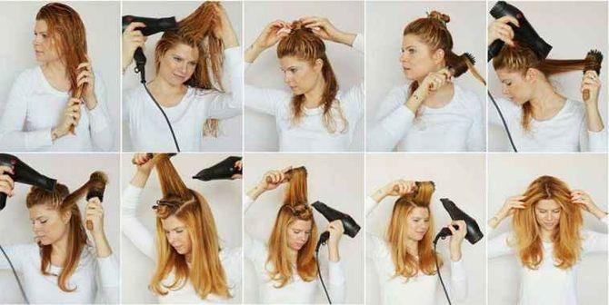 Секреты модных укладок волос феном, утюжком, плойкой 11