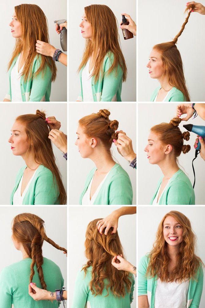 Секреты модных укладок волос феном, утюжком, плойкой 12