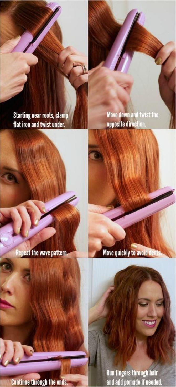 Секреты модных укладок волос феном, утюжком, плойкой 15