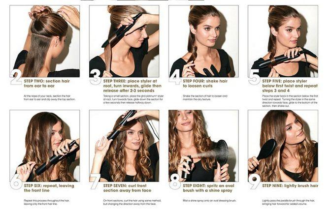 Секреты модных укладок волос феном, утюжком, плойкой 14