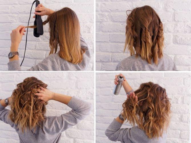 Секреты модных укладок волос феном, утюжком, плойкой 17