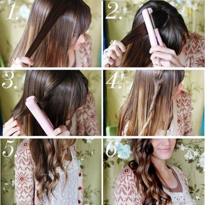 Секреты модных укладок волос феном, утюжком, плойкой 18