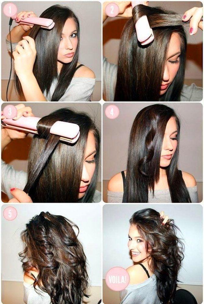 Секреты модных укладок волос феном, утюжком, плойкой 20