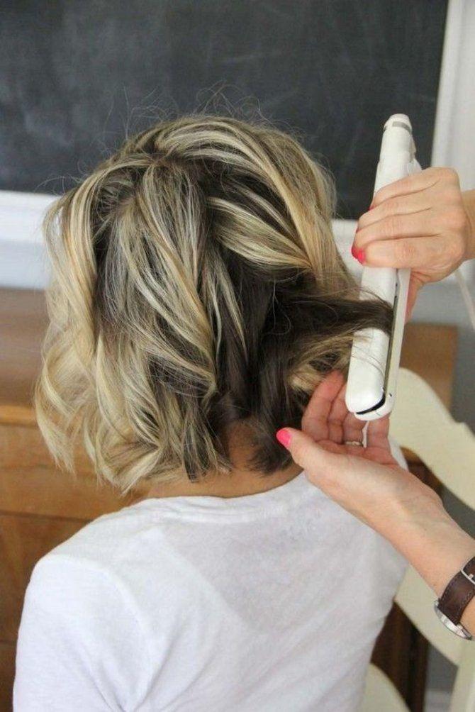 Секреты модных укладок волос феном, утюжком, плойкой 19