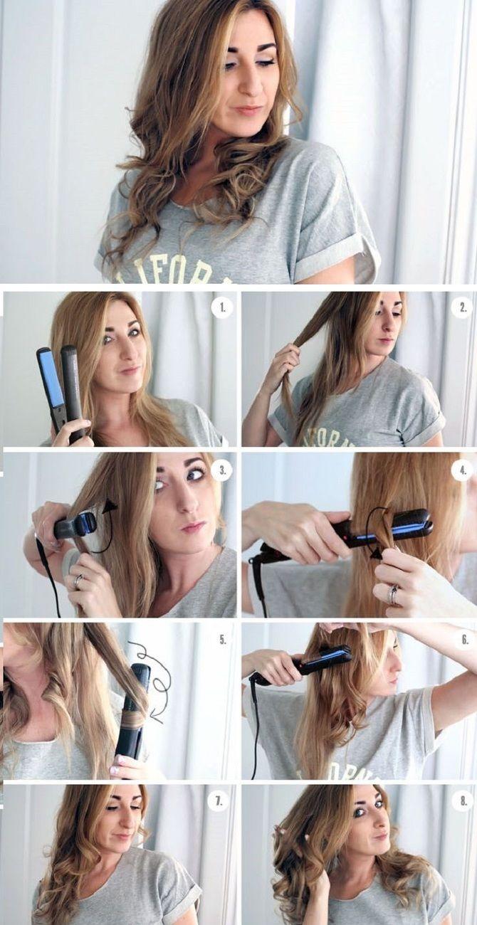 Секреты модных укладок волос феном, утюжком, плойкой 21