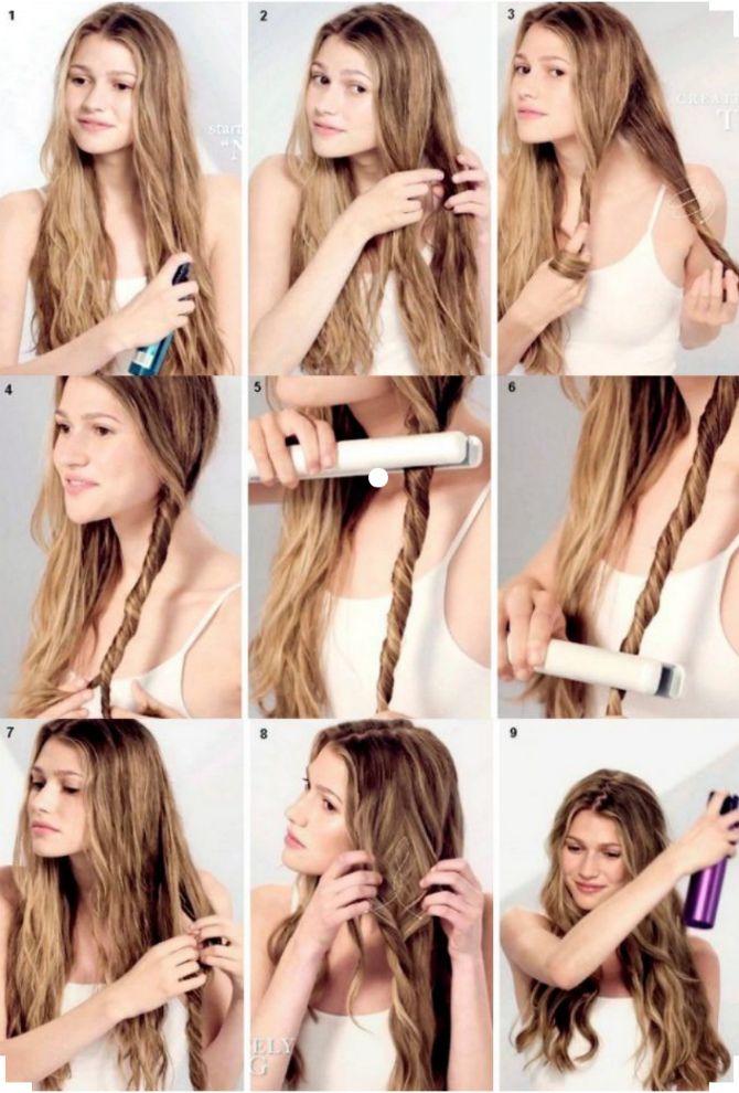 Секреты модных укладок волос феном, утюжком, плойкой 22