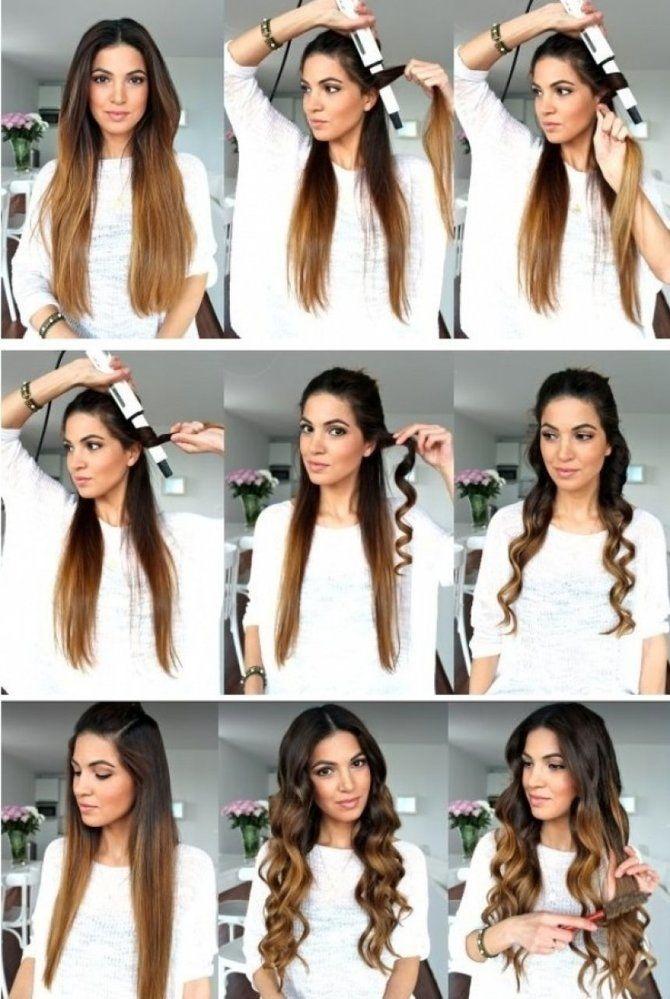 Секреты модных укладок волос феном, утюжком, плойкой 24