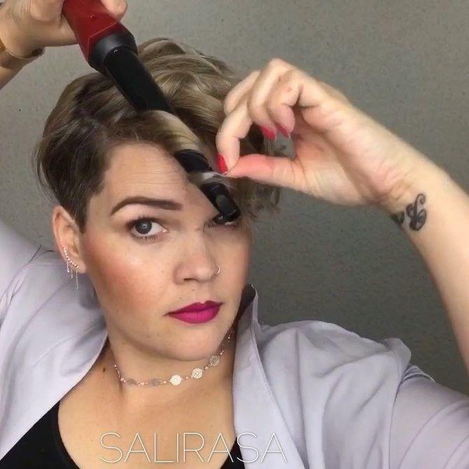Секреты модных укладок волос феном, утюжком, плойкой 25