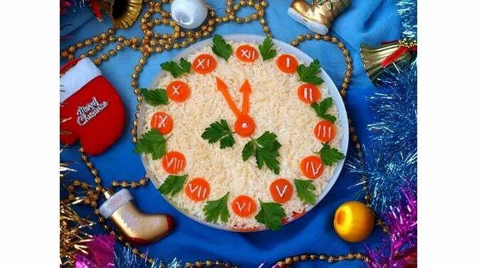 Украшение праздничных блюд: новогодняя символика 2021 на столе 15