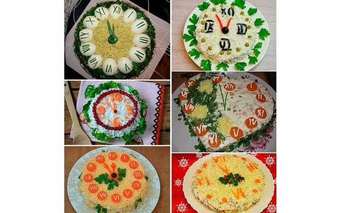 Украшение праздничных блюд: новогодняя символика 2021 на столе 18