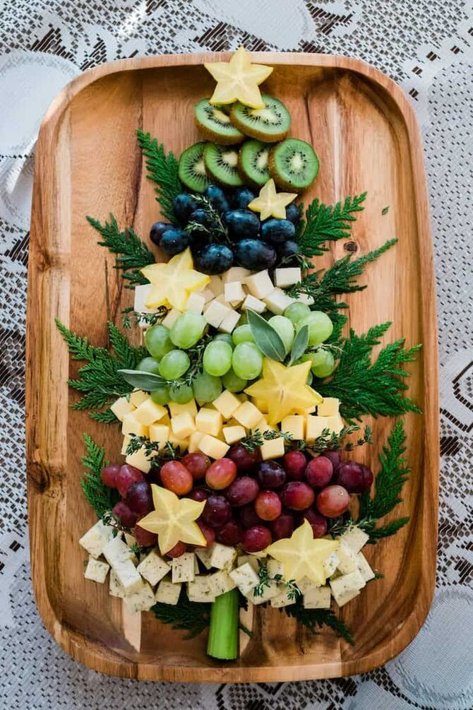 Украшение праздничных блюд: новогодняя символика 2021 на столе 19