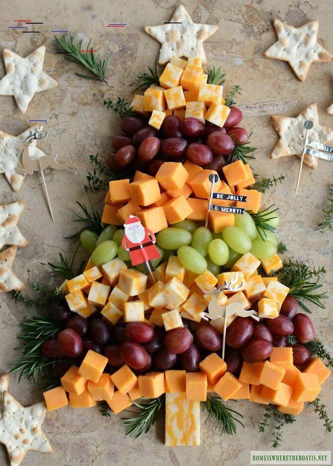 Украшение праздничных блюд: новогодняя символика 2021 на столе 20