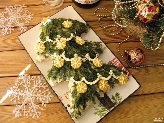 Украшение праздничных блюд: новогодняя символика 2021 на столе 22