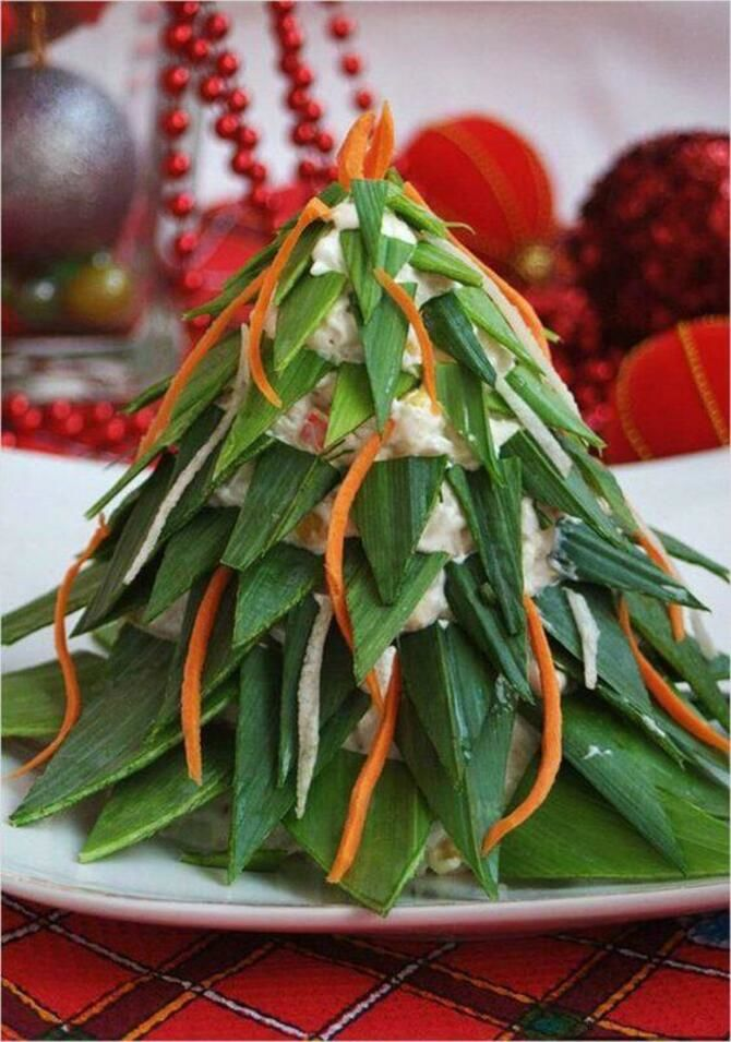 Украшение праздничных блюд: новогодняя символика 2021 на столе 25