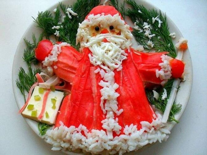 Украшение праздничных блюд: новогодняя символика 2021 на столе 2