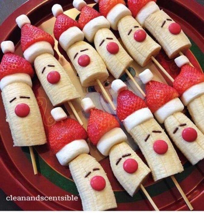 Украшение праздничных блюд: новогодняя символика 2021 на столе 31
