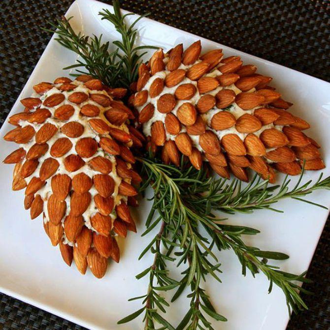 Украшение праздничных блюд: новогодняя символика 2021 на столе 35