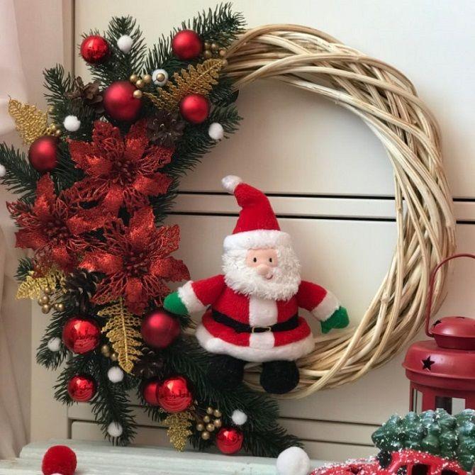 Как украсить дверь с помощью новогодних венков – красивые идеи, правила выбора декора 1