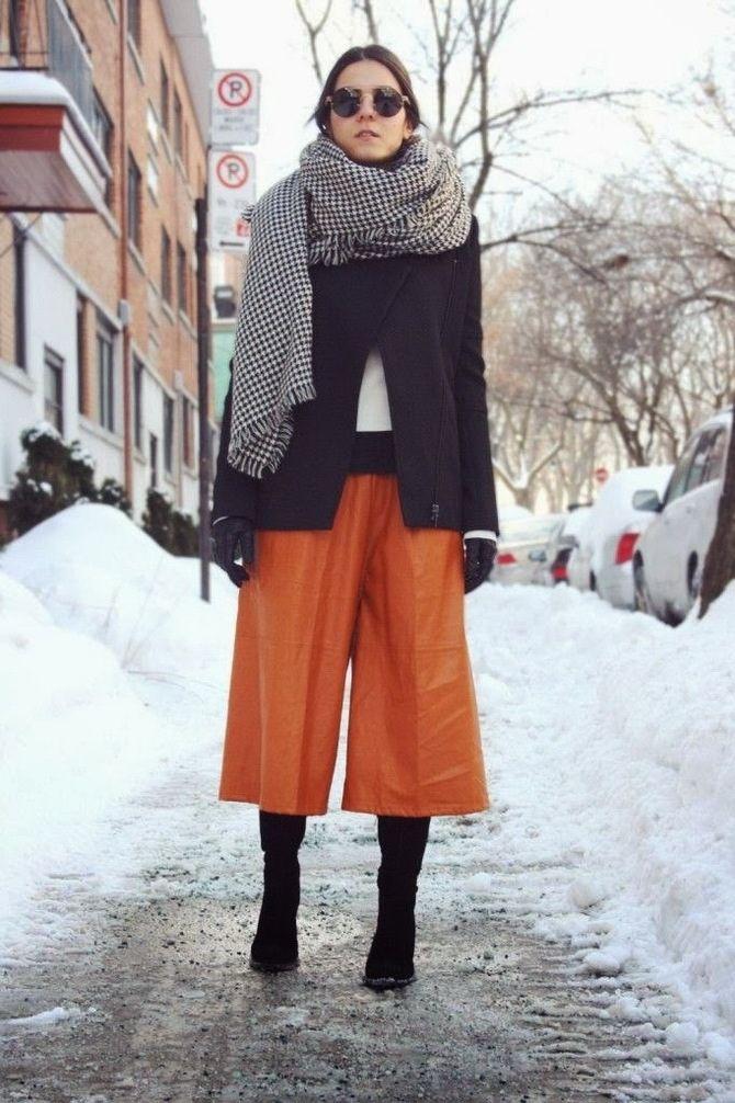 Высокие сапоги и костюмные брюки — как сочетать 20