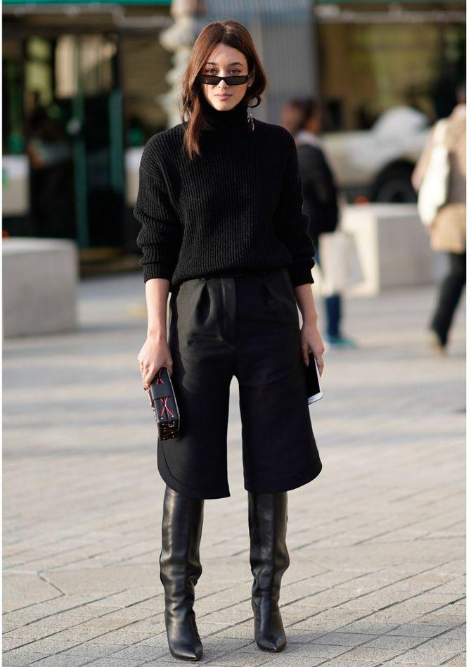 Высокие сапоги и костюмные брюки — как сочетать 22