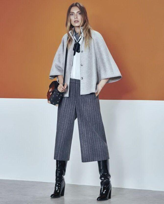 Высокие сапоги и костюмные брюки — как сочетать 25