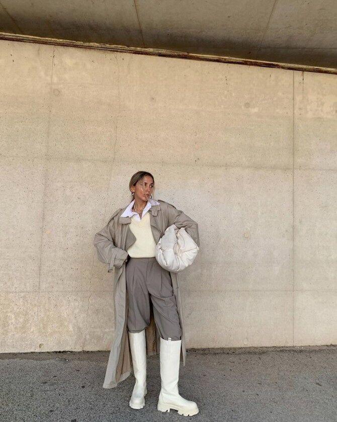 Высокие сапоги и костюмные брюки — как сочетать 4