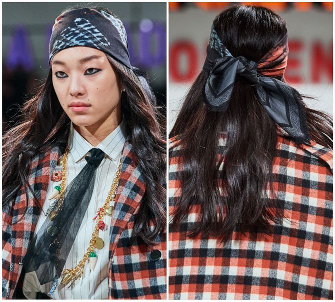Косынка на голову: как носить модный аксессуар 2021 года 19