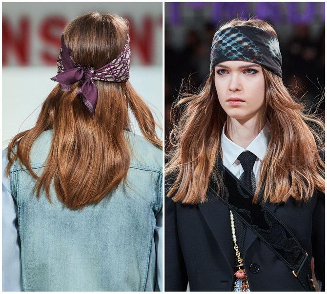 Косынка на голову: как носить модный аксессуар 2021 года 20