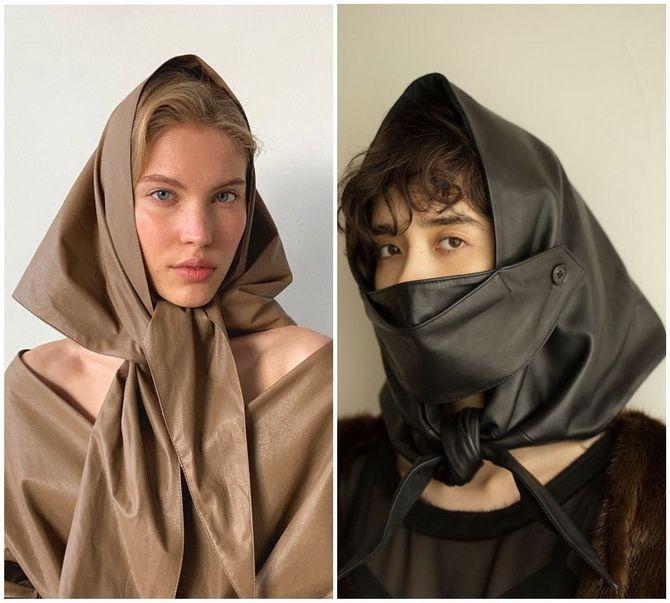 Косынка на голову: как носить модный аксессуар 2021 года 26