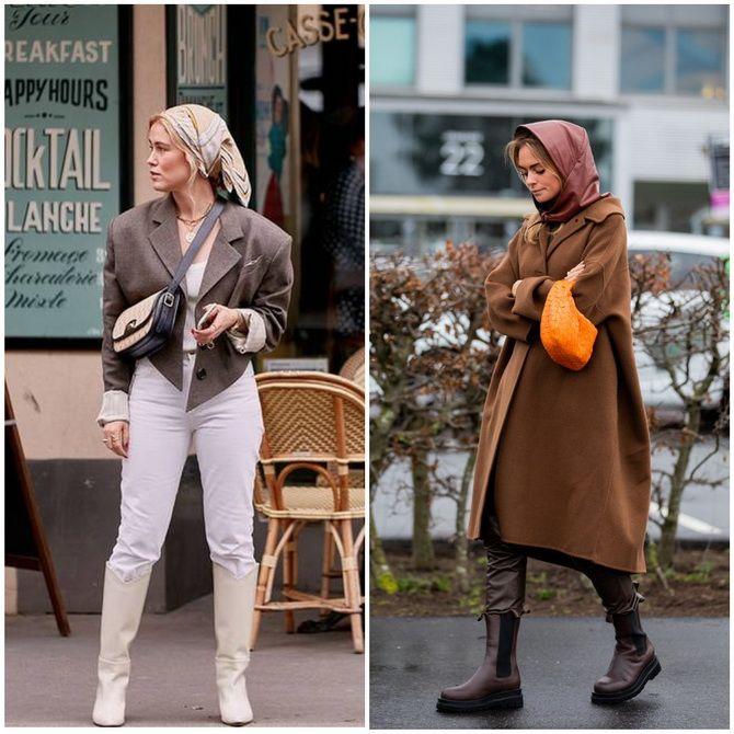 Косынка на голову: как носить модный аксессуар 2021 года 3