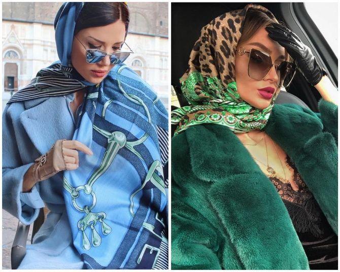 Косынка на голову: как носить модный аксессуар 2021 года 4