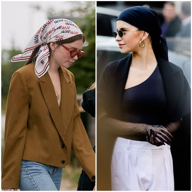 Косынка на голову: как носить модный аксессуар 2021 года 7