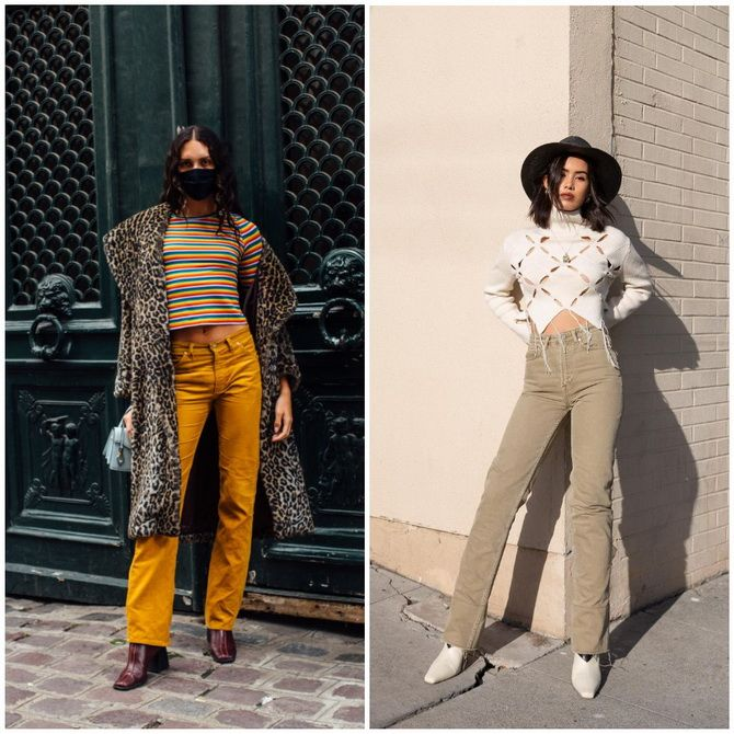 Прямые джинсы: с чем носить вечную классику в 2021 году? 24