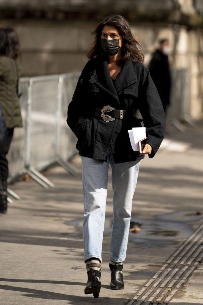 Прямые джинсы: с чем носить вечную классику в 2021 году? 26