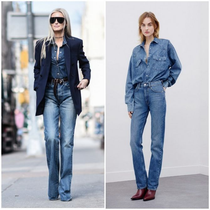 Прямые джинсы: с чем носить вечную классику в 2021 году? 9