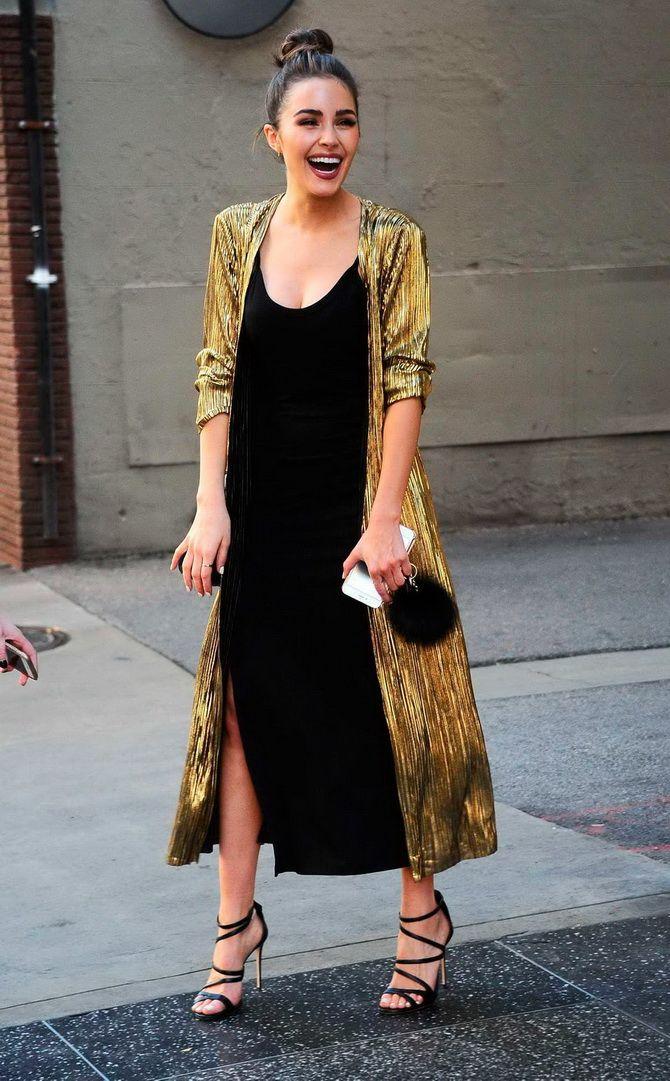 Як носити вечірні сукні взимку: луки з верхнім одягом 1