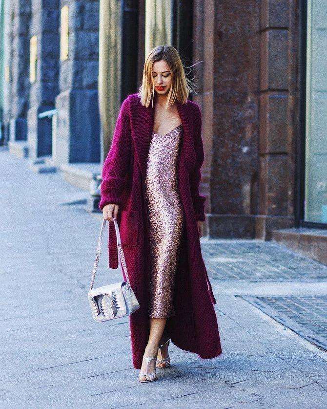 Як носити вечірні сукні взимку: луки з верхнім одягом 2