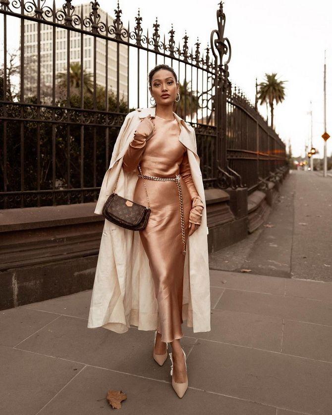 Як носити вечірні сукні взимку: луки з верхнім одягом 11