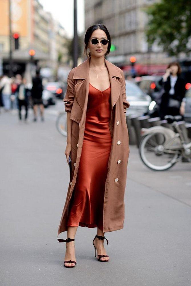 Як носити вечірні сукні взимку: луки з верхнім одягом 12