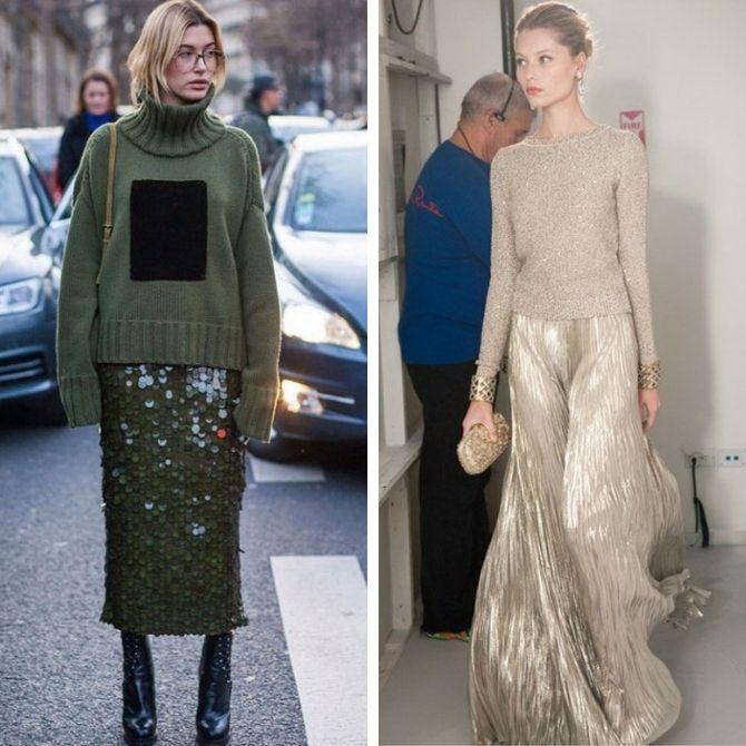 Як носити вечірні сукні взимку: луки з верхнім одягом 15