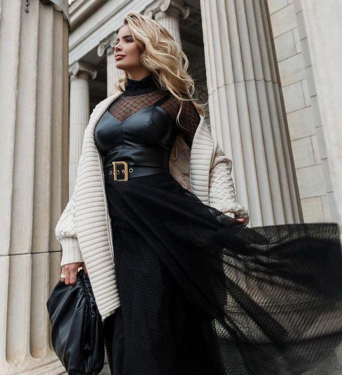 Як носити вечірні сукні взимку: луки з верхнім одягом 3